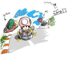 clipart of Mario Kart Drawing