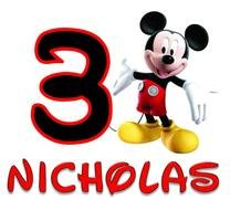 Mickey Mouse Birthday nicholas drawing