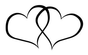 Wedding Hearts Clip Art Black White
