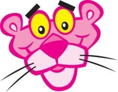 Pink Panther face drawing