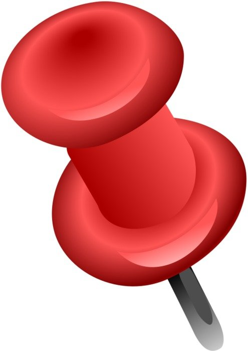 red Push Pin, Clip Art