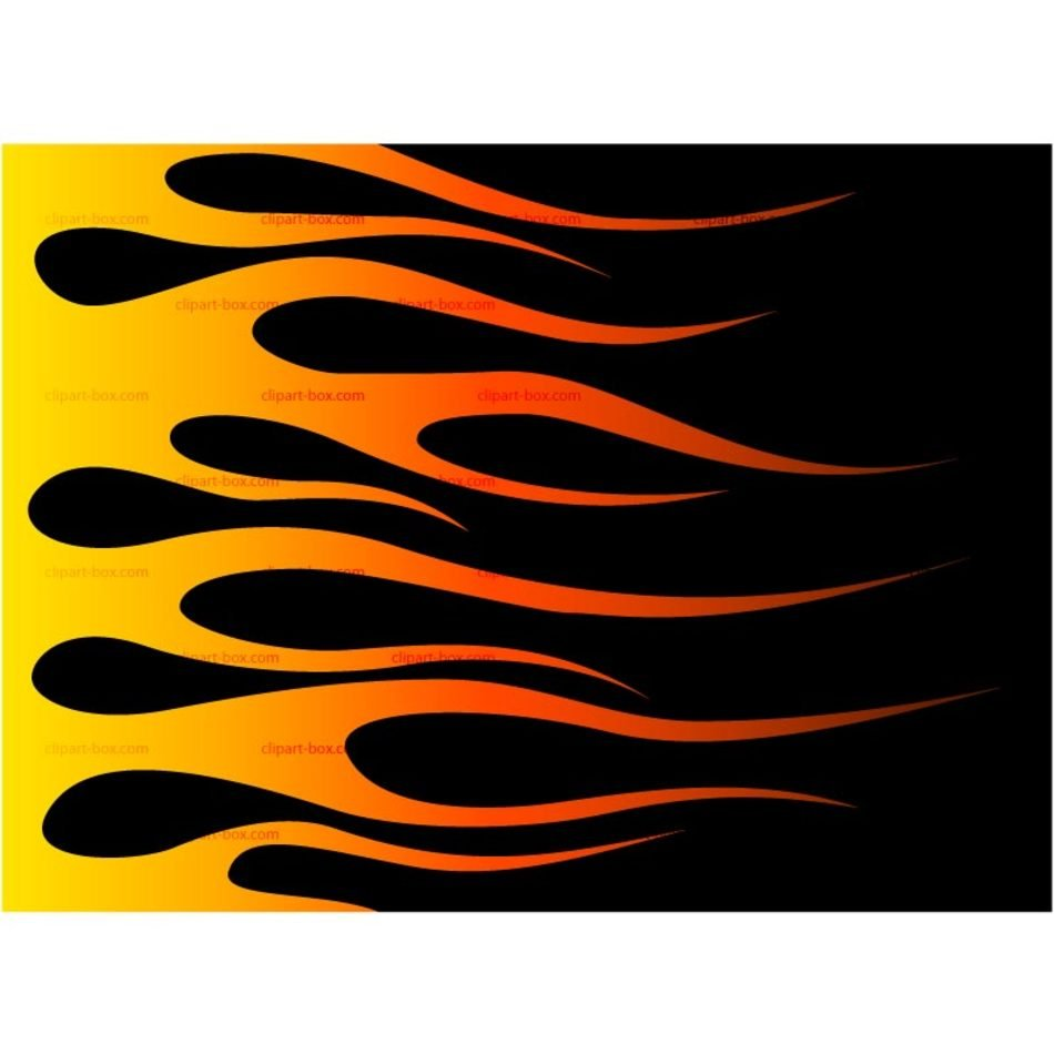 Hot red flames clipart
