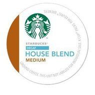 STARBUCKS DECAF HOUSE BLEND COFFEE K CUP 72 COUNT