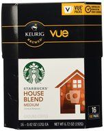 Starbucks House Blend Coffee Keurig Vue Portion Pack, 32 Count