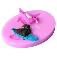 1pcs the Rocks on the Bird Shape Silicone Mold, for Fondant Cake Mold, Bakware Tools, Soap Mold ,Sugar Tool