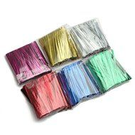 """800Pcs Metallic Twist Tie Wire for Pack Candy Lollipop Cake Cello Bag (Green)"" shopping N3"