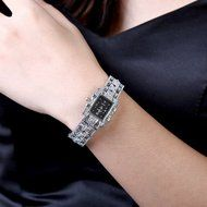 Yaheeda Fashion Women Lady Gril Bling Jewelry Stainless Steal Analog Wrist Watches N2