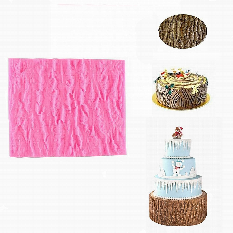 Fondant Impression Mat Tree Bark Texture Design Silicone Cake