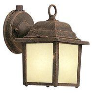 Designers Fountain ES2861-AM-AG Builder Cast Aluminum Energy Star Collection 1-Light CFL Exterior Wall Lantern...