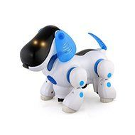 SunSunRise Blue Robot Robotic Electronic Walking Pet Dog Puppy Kids Toy With Music Light