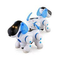 SunSunRise Blue Robot Robotic Electronic Walking Pet Dog Puppy Kids Toy With Music Light N3