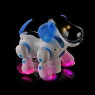 SunSunRise Blue Robot Robotic Electronic Walking Pet Dog Puppy Kids Toy With Music Light N4