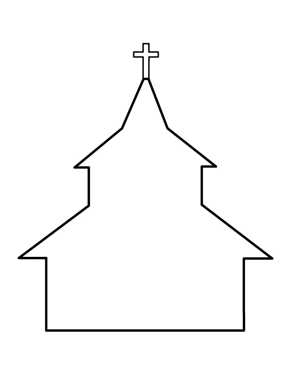 Black And White Drawing Of The Church Clipart Free Image Download