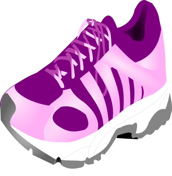 Track Running Shoes Clip Art N3 free image