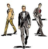 drawings of men in suits
