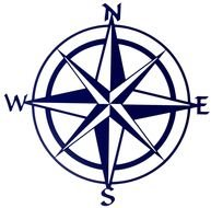 Compass with wind Rose, drawing