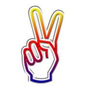 Peace Sign Fingers Symbol N2