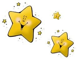 yellow Stars Clip Art drawing