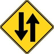 Two Way Traffic Sign drawing