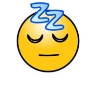 Sleeping smiley face clipart