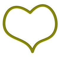 green heart in graphic representation
