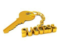 golden key to success as a picture for clipart