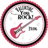 You Rock Valentine as a graphic illustration
