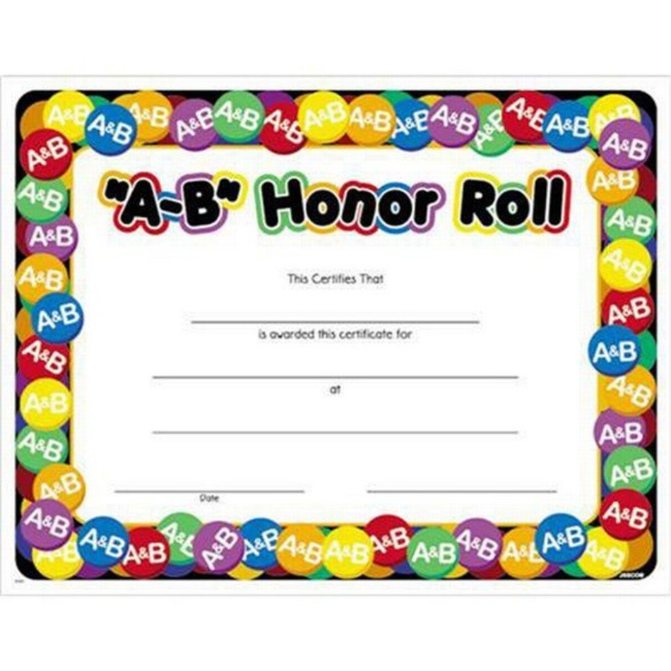 Honor Roll Certificate Template from pixy.org