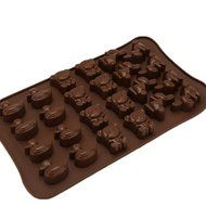 JLHua 3 PCS Candy Molds & Ice Cube Trays- Duck Bear Rabbit-Silicone Chocolate Molds - Fun, Toy Kids Set N2