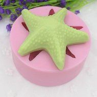Y&XL&H Starfish Shaped Fondant Cake Chocolate Silicone Mold Cake Decoration Tools,L8.5cmW8.5cmH3.3cm