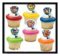 36 Paw Patrol Ruff Rescue Cupcake Topper Rings Party Favors