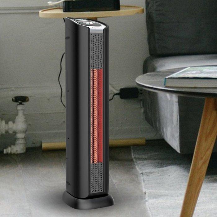 "Lifesmart 24"" 2 Element Infrared Tower Heater & Fan"
