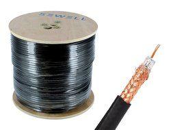 Black 1000 Spool Sewell Direct SW-30082 RG59 Bulk Cable 95/% Braid Dual Shielding CCS