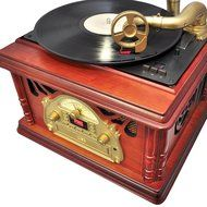 Pyle PTCDCS32BT Retro Vintage Classic Bluetooth Turntable Phonograph Gramophone Record Player, Vinyl-To-MP3 Recording