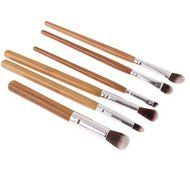 ShungHO 11pcs Bamboo Handle Cosmetic Makeup Brush Set Perfect for Use as Concealer Brush, Contour Brush, Cosmetic... N3