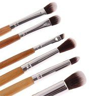 ShungHO 11pcs Bamboo Handle Cosmetic Makeup Brush Set Perfect for Use as Concealer Brush, Contour Brush, Cosmetic... N5
