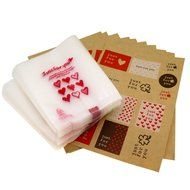 Yunko 300pcs Clear Little Daisies Cookie Candy Soap Packaging Self-adhesive Bags