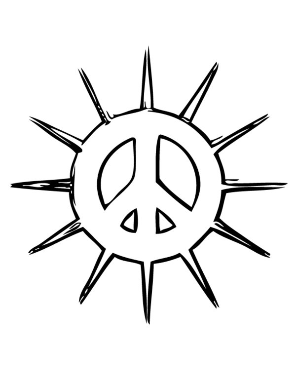 Simple and Attractive Free Printable Peace Sign Coloring Pages | Peace sign  art, Coloring pages, Peace sign | 776x600