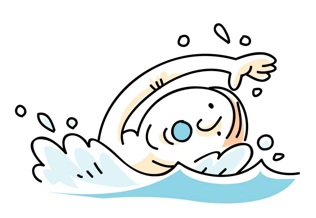 Swimming Cartoon Clip Art Drawing Free Image