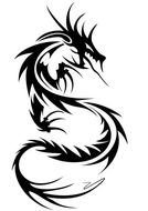 Clip Art of black tattoo design
