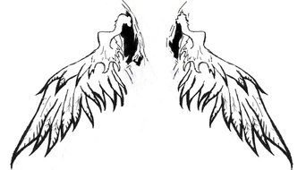 Clip art of Angel Wings Tattoo Design
