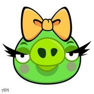 Girl pig from Angry Birds clipart