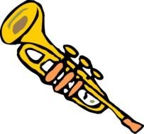 isolated drawn trumpet