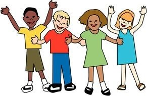 Clip art happy children