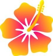 Hawaiian Flower Clip Art drawing