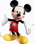 photo Mickey Mouse with arms wide open