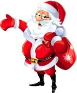picture of santa claus with a bag of gifts