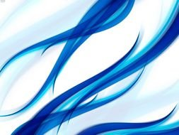 Blue and white wave Abstract