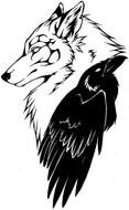 Wolf And Raven Tattoo drawing