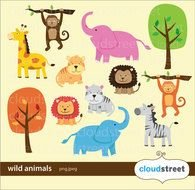 Wild Animal Clip Art drawing